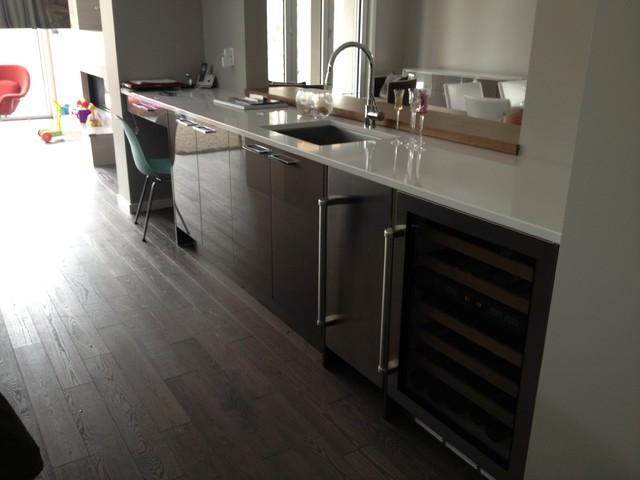 Clean Urban Retreat contemporary-kitchen