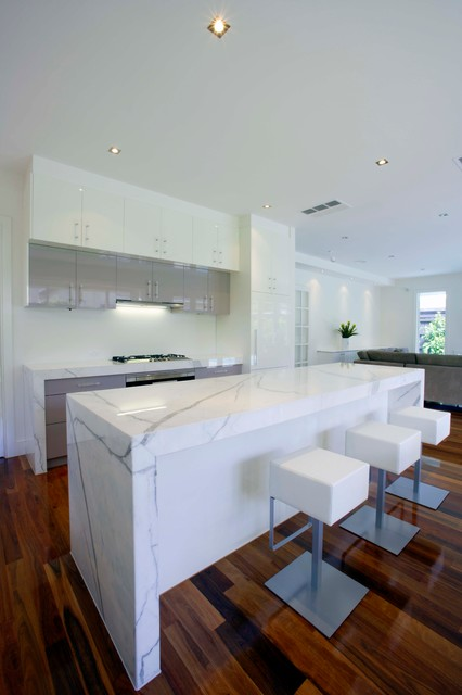 Clean, White & Bright contemporary-kitchen