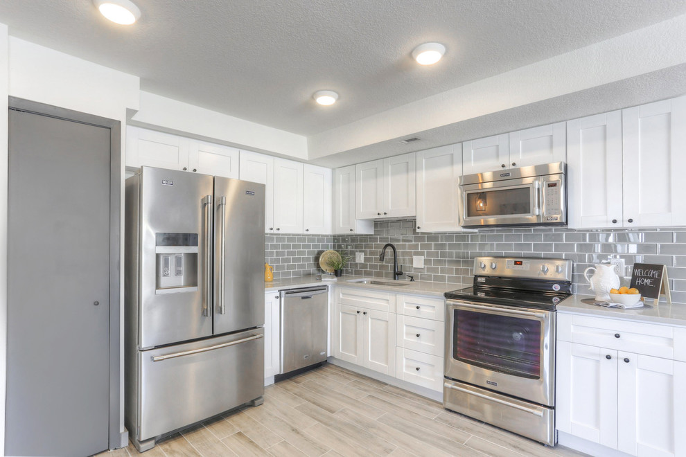 Clearwater Beach Condo Remodel - Transitional - Kitchen ...