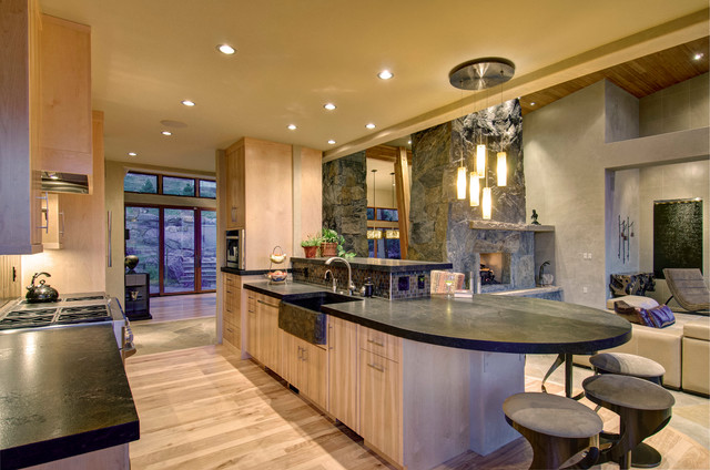 Cliff Line Road - Golden CO - Contemporary - Kitchen ...