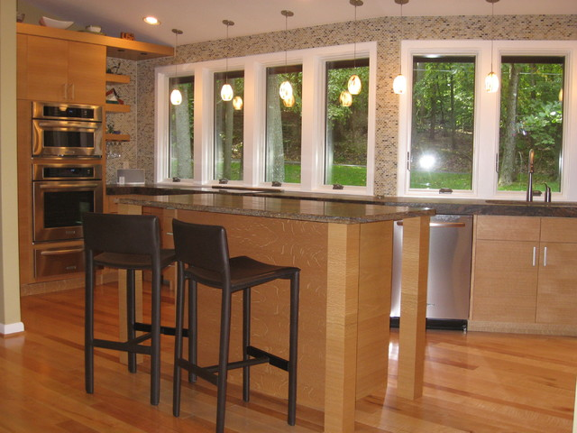 Clifton Mid-Century Modern Kitchen Renovation - Modern - Kitchen - dc metro - by Williams Design ...