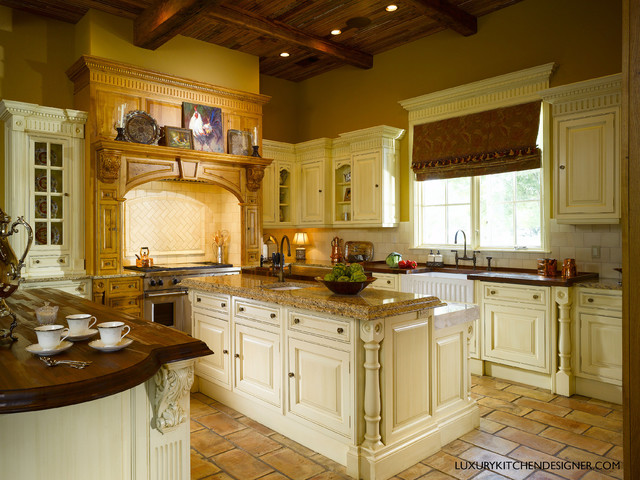 Christian Kitchen in Antique French Oak & Cream traditional kitchen