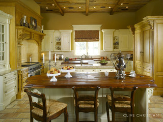 Clive christian kitchen in antique french oak cream for Clive christian kitchen designs