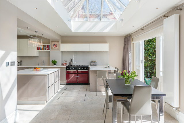 closed cellar in contemporary kitchen  contemporary
