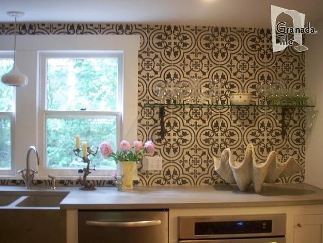 cluny tile eclectic kitchen