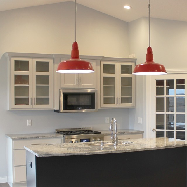 Coal Valley, IL- Red, White, and Blue Kitchen With ...