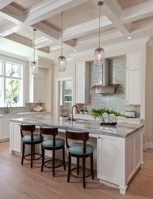 coastal casual - beach style - kitchen - miami -ficarra design