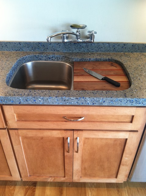 Inset Cutting Board Contemporary Kitchen Raleigh