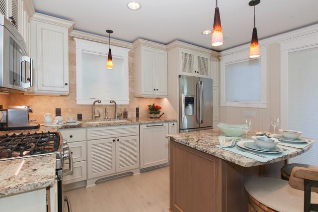 Coastal Cove House beach-style-kitchen