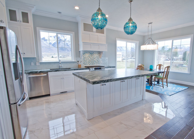 Coastal Craftsman transitional-kitchen