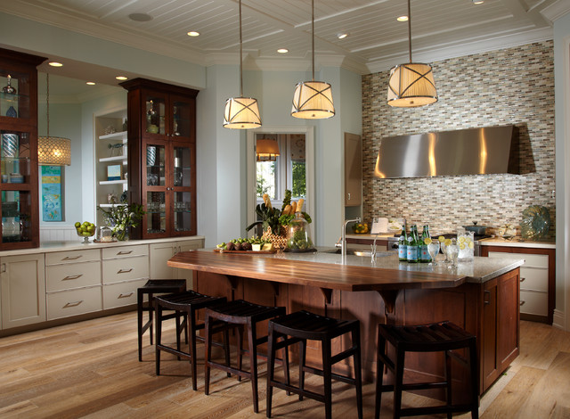 Coastal Living Davis Island Interior Design Tropical Kitchen Tampa