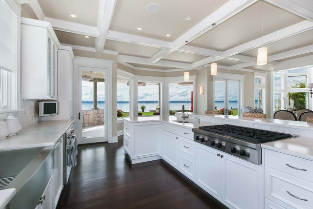 coastal living on fox island - traditional - kitchen - seattle