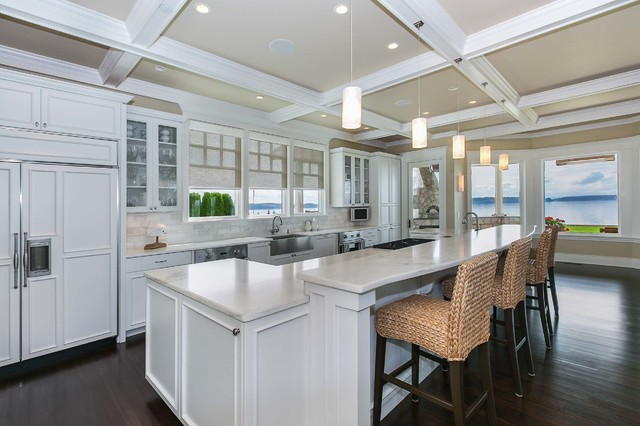 Coastal Living On Fox Island Traditional Kitchen Seattle By Tamara Rosenbloom Design Llc