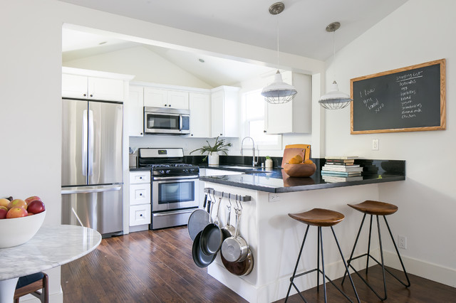 Industrial Farmhouse Kitchen coastal modern farmhouse (industrial, comfortable and budget
