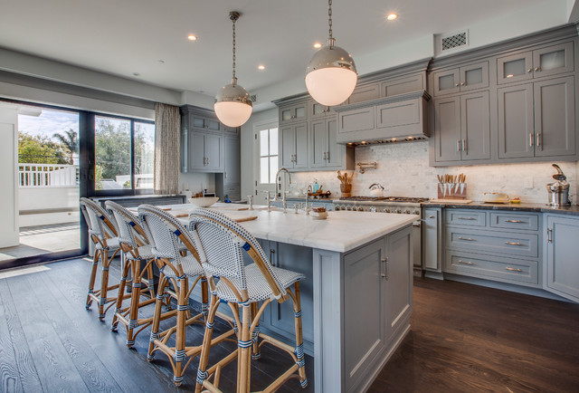 Coastal Plantation In Manhattan Beach Style Kitchen