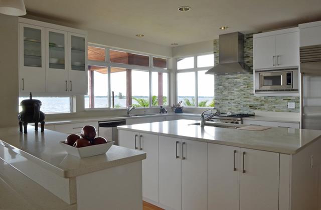 Coastal Renovation - Contemporary - Kitchen - Miami - by Benson & Associates, Interior Design