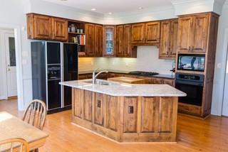 coastal rustic wild woods kitchen & bathroom remodel