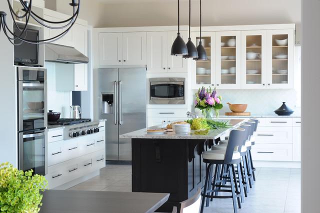 Coastal Views Custom Home Beach Style Kitchen