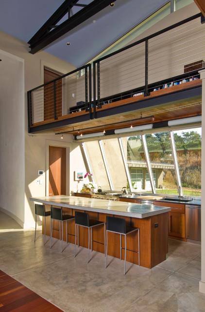 Coastside view home contemporary-kitchen