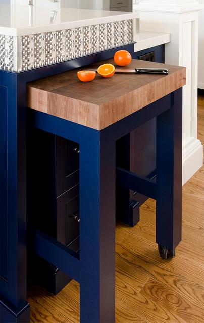 Cobalt Blue and White Kitchen Reno  Traditional  Kitchen  portland