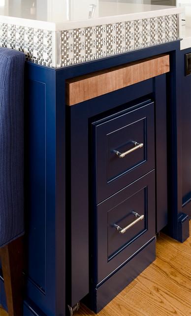 Cobalt Blue and White Reno contemporary-kitchen