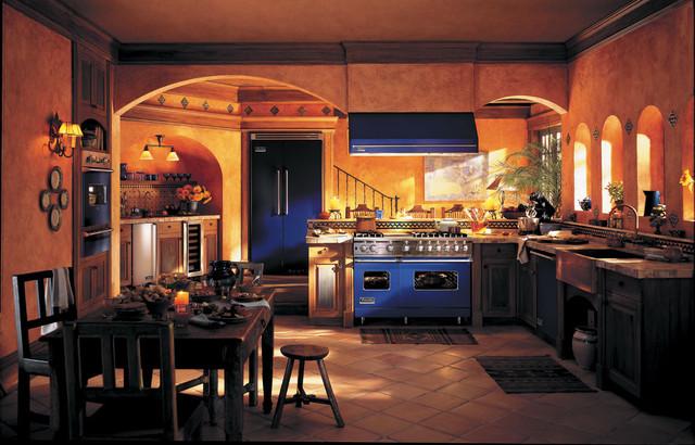 Cobalt Blue Viking Range Traditional Kitchen Other