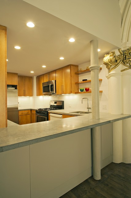 Cobble Hill Triplex eclectic kitchen