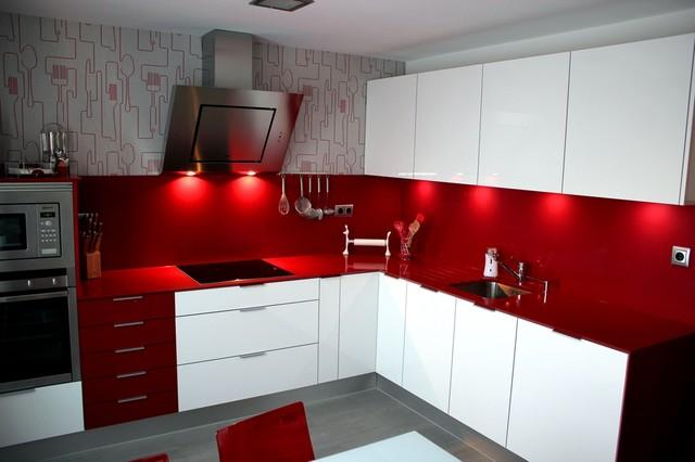 Cocina arroyomolinos modern kitchen other metro by - Disenos de cortinas para cocina ...