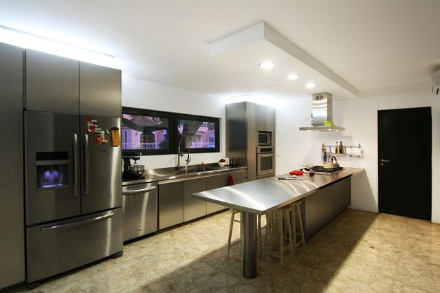 Cocina moderna mejora la apariencia de tu espacio - Houzz cocinas ...