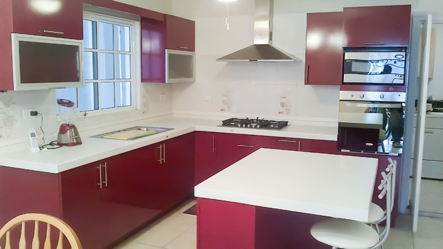Cocina Roja Contemporánea, Monterrey Mx. - Contemporary - Kitchen ...