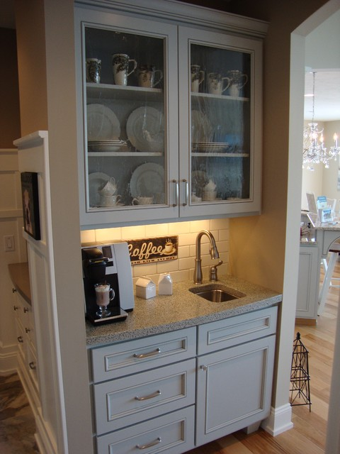 Coffee bar - Eclectic - Kitchen - Grand Rapids - by Homes by ...