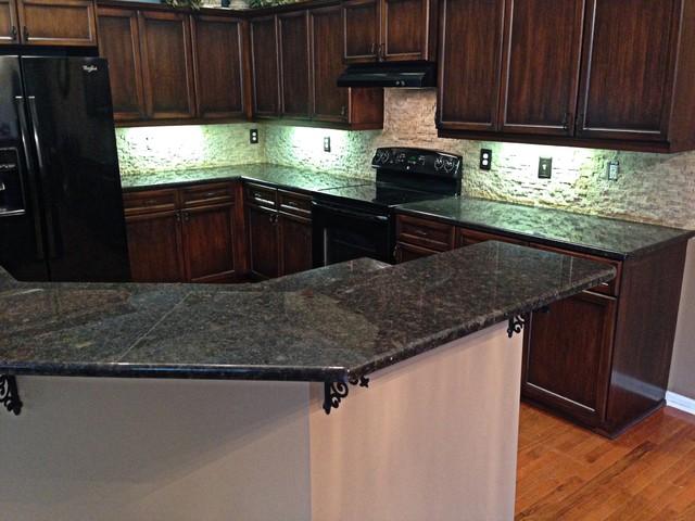 Coffee Brown Granite Kitchen : Coffee brown granite transitional kitchen kansas