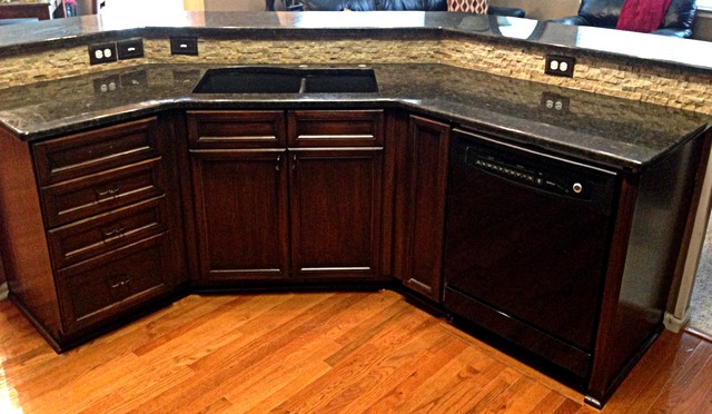 Coffee Brown Granite Countertops : Coffee brown granite transitional kitchen kansas