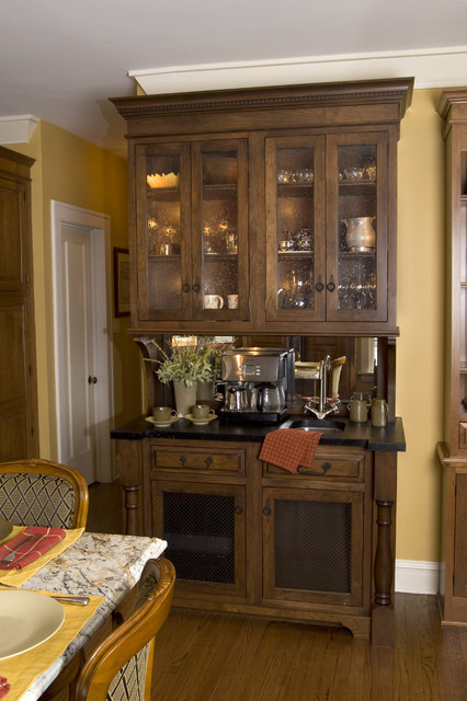 Coffee Hutch Traditional Kitchen Chicago By The