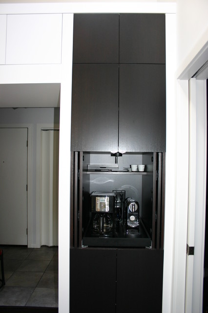 Coffee Maker Cabinet Contemporary Kitchen Minneapolis By Modern Design Cabinetry