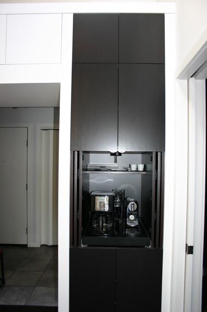 Attractive Coffee Maker Cabinet. Contemporary Kitchen