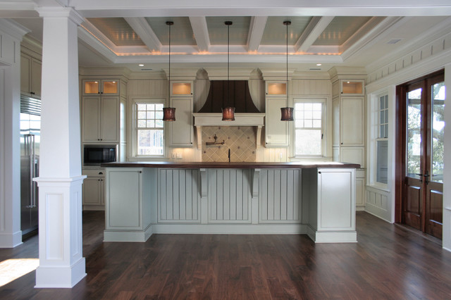 Coffered Ceilings - Contemporary - Kitchen - charleston - by Sea Island Builders LLC
