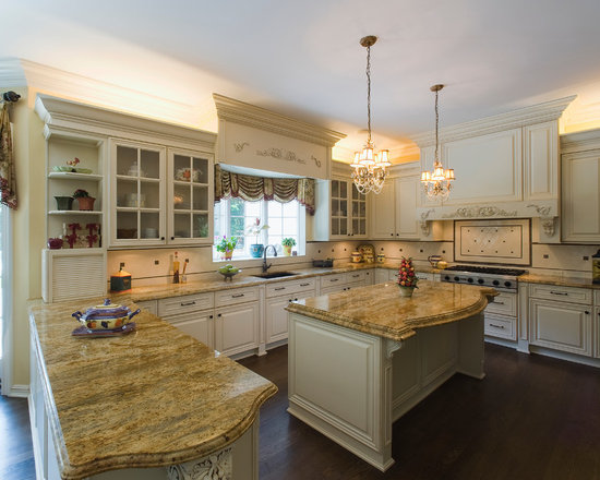 Beige Granite Countertop Home Design Ideas, Pictures, Remodel and