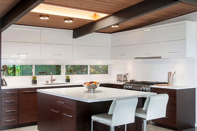 College West Midcentury Kitchen San Diego By Borrelli Design Cabinetry