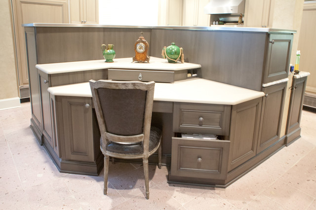 island desk area traditional kitchen dallas by