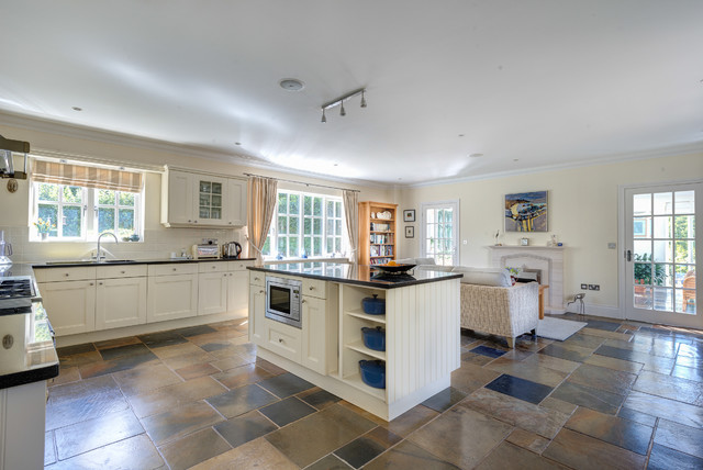 colliers barton farmhouse kitchen - Multi Colored Tile Floor