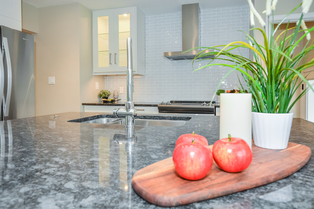 Example of a trendy kitchen design in Other