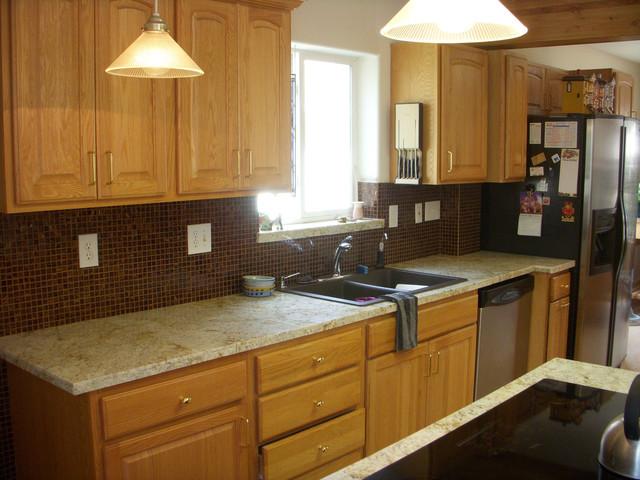 Colonial Cream 18x26 Granite Mini-Slab Kitchen Counter Remodel ...