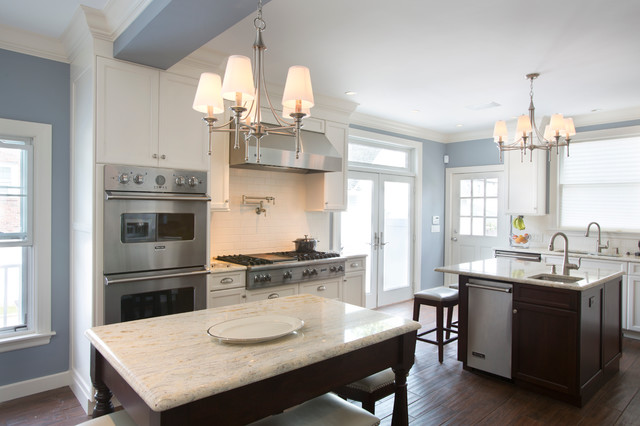 Colonial, Late 1800's Winthrop, MA - Traditional - Kitchen - Boston - by Kempton Construction LLC,