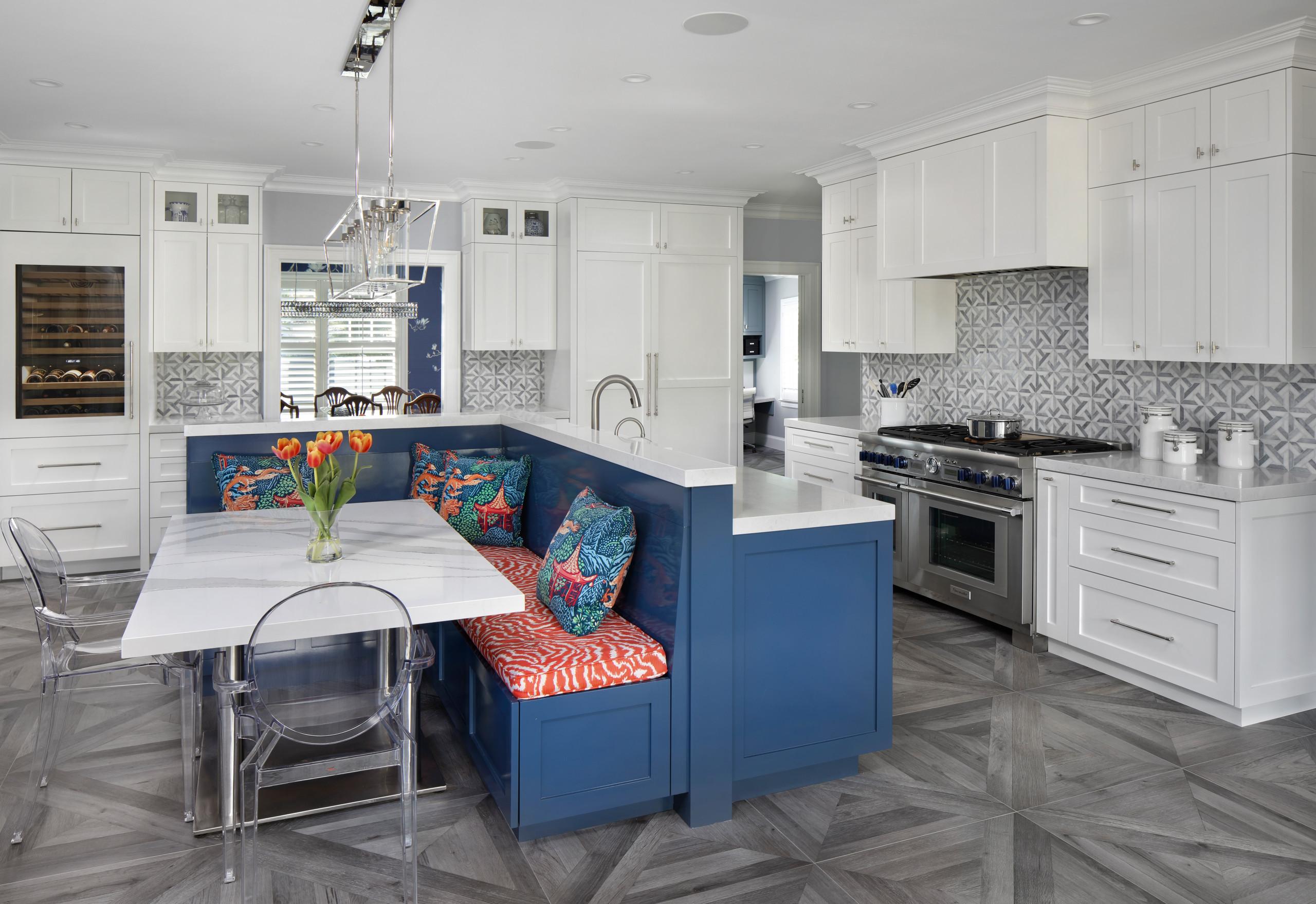 Colonial Revival - modern farmhouse kitchen
