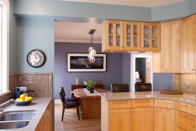 Color Design Flowing Spaces Eclectic Kitchen San Francisco By Rachel