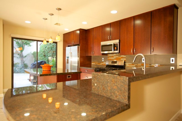 Color Story Palm Desert Full Remodel Contemporary Kitchen Other Metro By Cabinets Of The