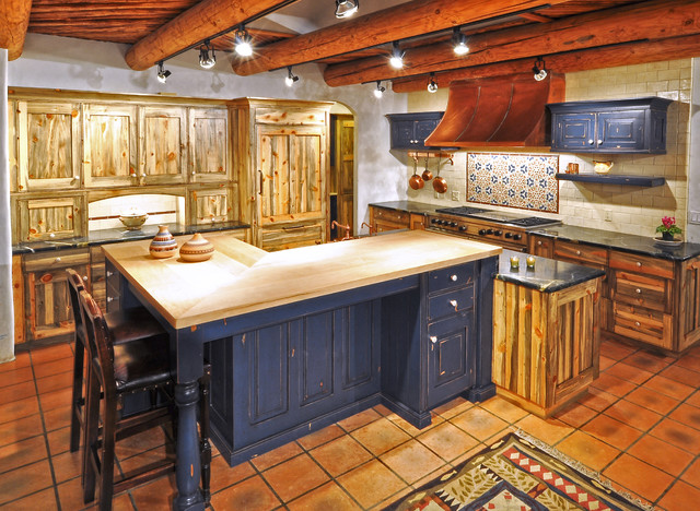 Colorado Beetle Kill Pine Kitchen Rustic Kitchen