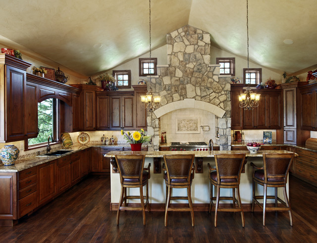Colorado French Country rustic-kitchen