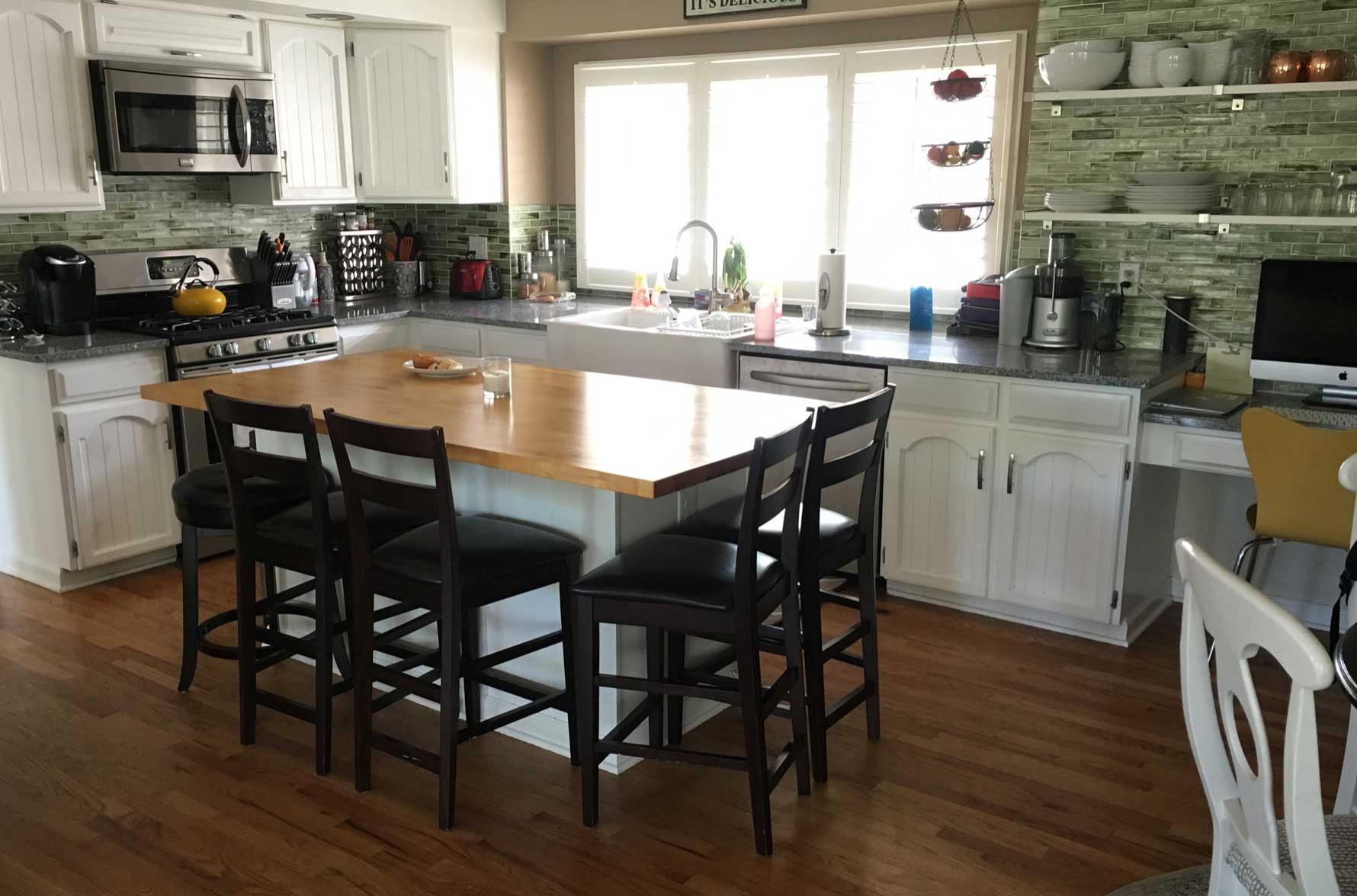 Colorado Kitchen Island-Before!